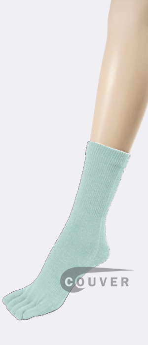 Baby/Light Blue COUVER Five Finger Toed Toe Socks Quarter Wholesale 6PRs