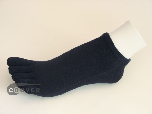 Navy Blue no show 5Finger Toe Socks Wholesale from Couver, 6PAIR