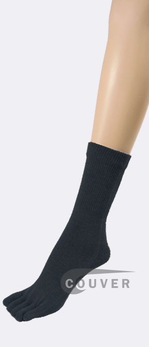 Navy Blue Couver Five Fingers Toe Socks Quarter Wholesale, 6PRS