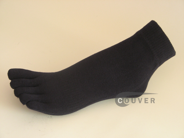 Navy Blue 5finger Ankle Toe Socks from COUVER Wholesale, 6PRs