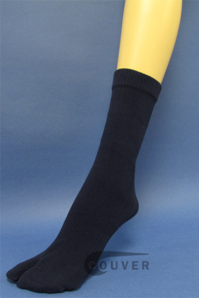 Couver Navy Wholesale Split Toed Quarter High Toe Socks, 6PAIRS