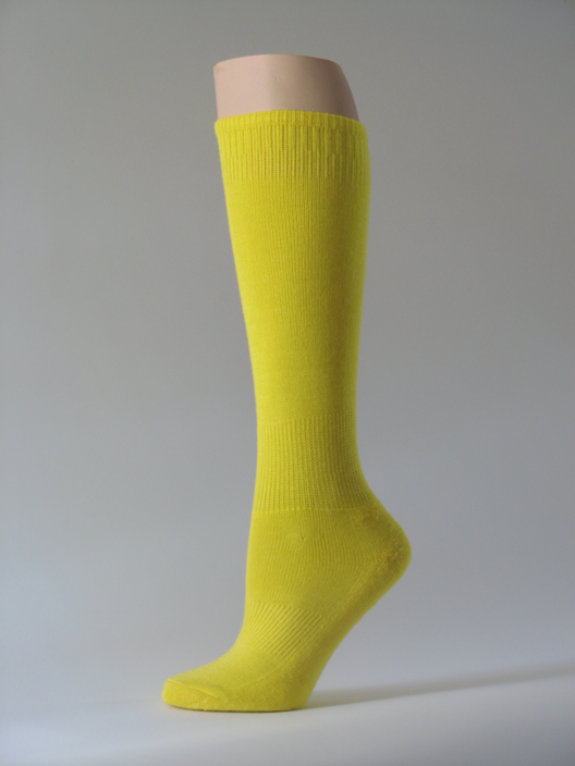 Bright yellow kids youth soccer socks for children