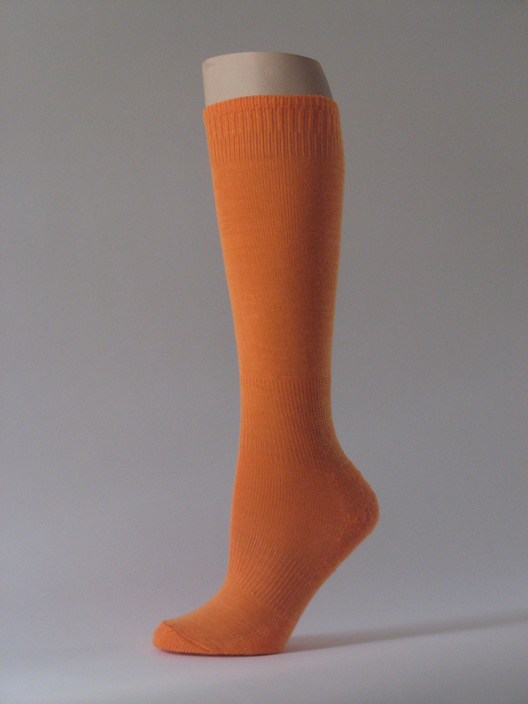 Light Orange kids youth soccer sock for child knee high