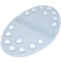 Oval stomp pad clear for snowboard
