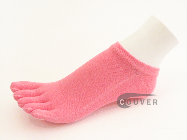 Pink No Show 5Fingers Toed COUVER Toe Socks Wholesale, 6PAIRs