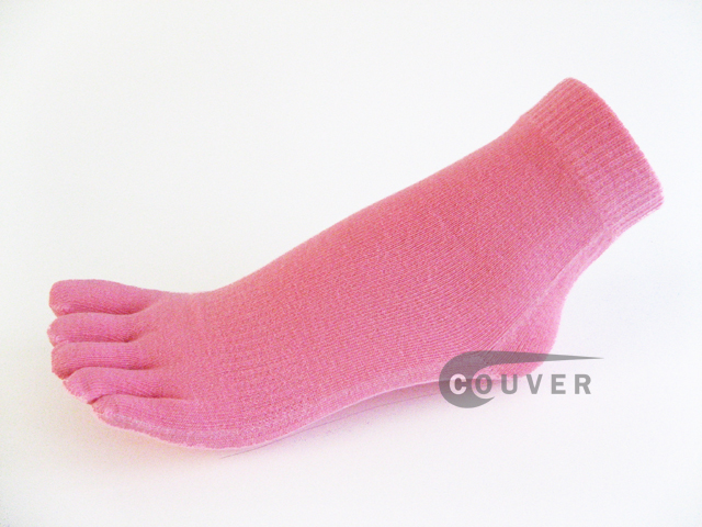 Pink COUVER 5finger Toes Ankle Toe Socks Wholesale, 6Pairs