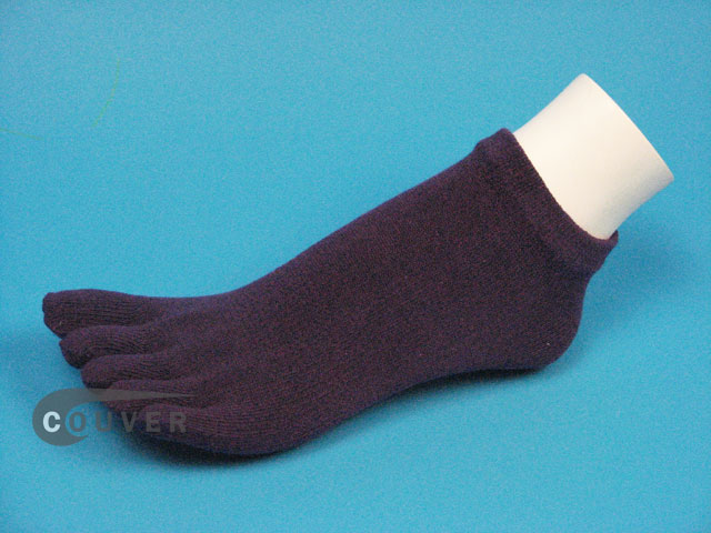 Purple no show 5Finger Toe Socks Wholesale from Couver 6PAIRS