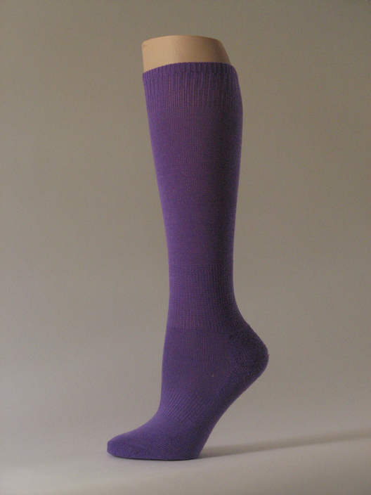 Purple kids youth soccer sock for children knee high