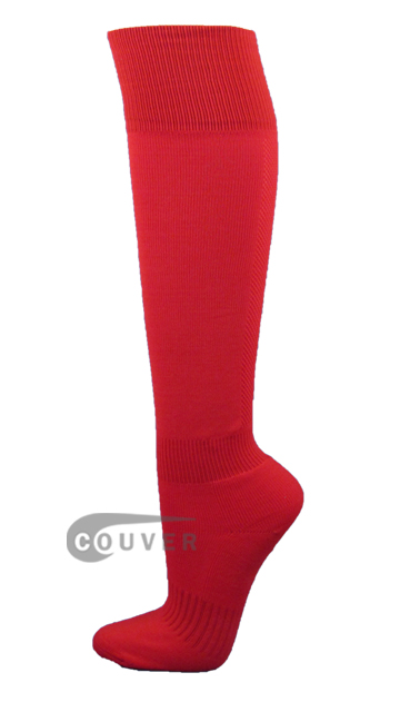 Red Couver Plain Knee High Soccer Socks[3Pairs]