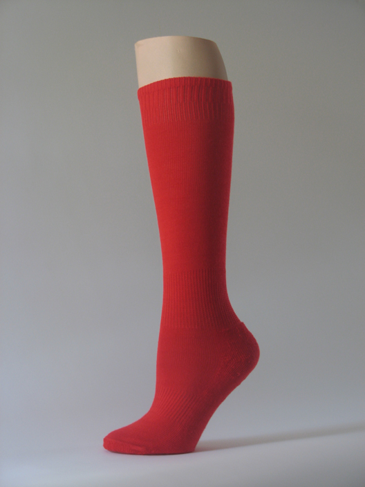Red kids youth soccer socks for children knee high