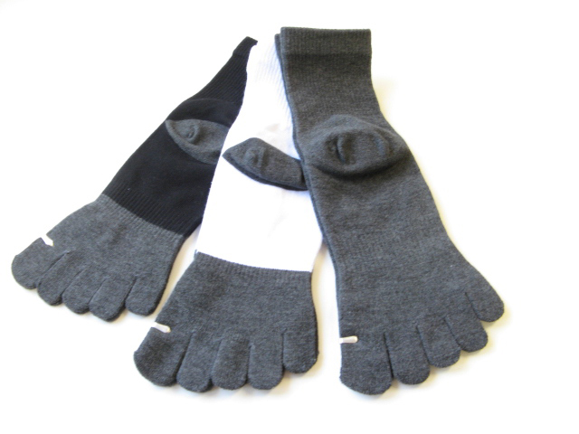 Gray Bamboo Charcoal Toe Socks over Ankle High [1pair]