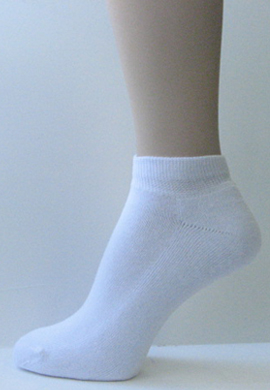 Mens Womens Athletic White Low Cut Cotton Socks [3pairs]