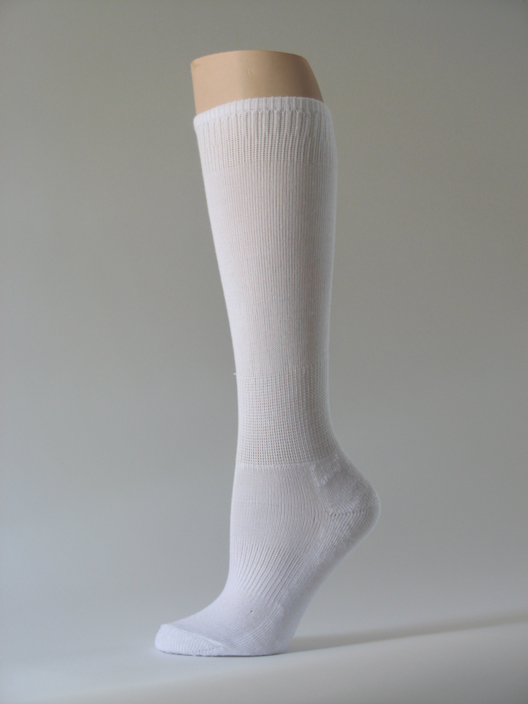 White kids youth soccer sock for children knee high