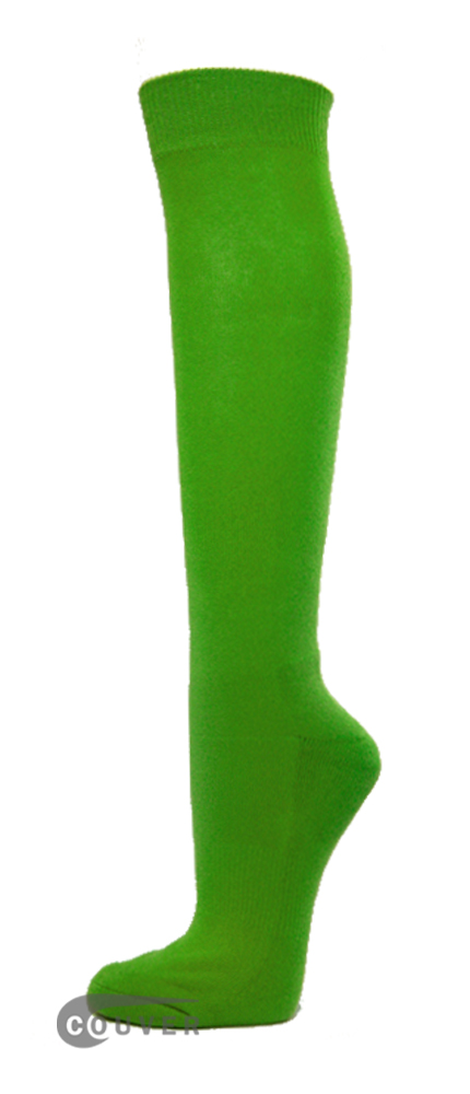 Bright Green Couver WHOLESALE Premium Quality Sports High Sock 1Dozen