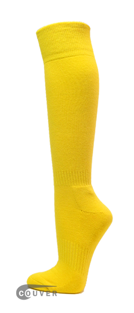 Bright Yellow Couver WHOLESALE Premium Quality Sports High Sock 1Dozen
