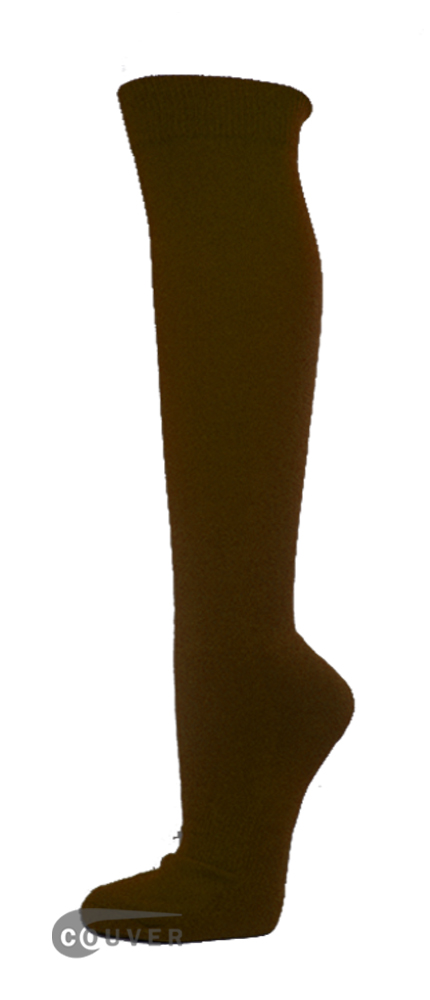 Dark Brown Couver WHOLESALE Premium Quality Sports High Sock 1Dozen