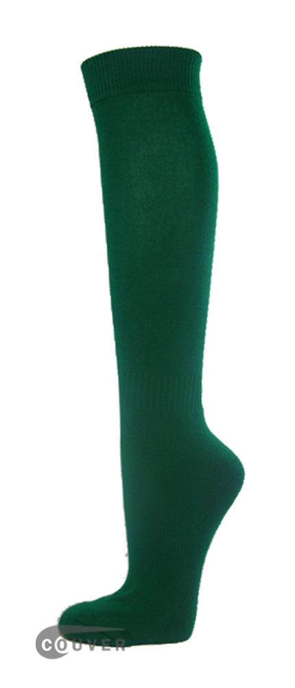 Dark Green Couver WHOLESALE Premium Quality Sports High Sock 1Dozen