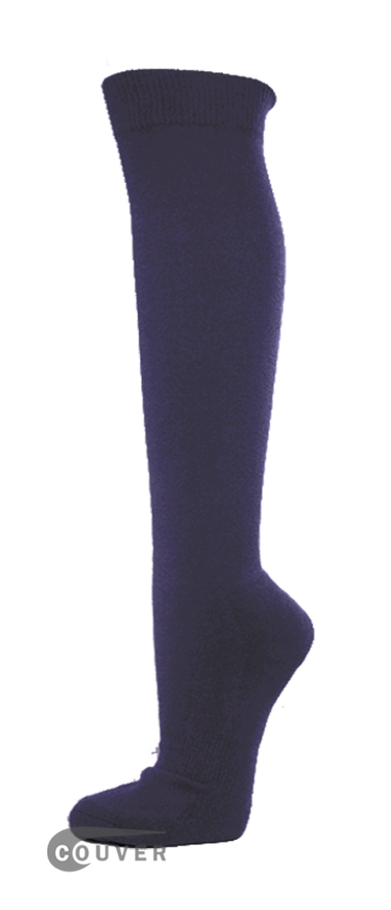 Dark Purple Couver WHOLESALE Premium Quality Sports High Sock 1Dozen