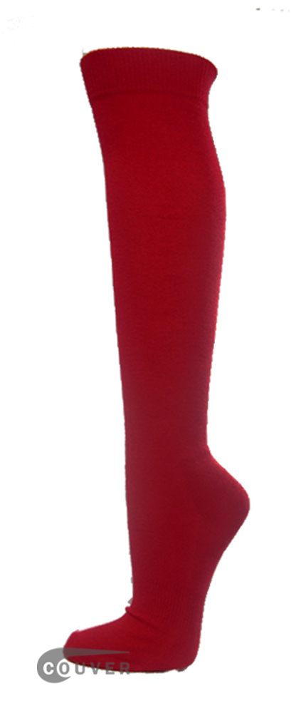 Dark Red Couver WHOLESALE Premium Quality Sports High Sock 1Dozen