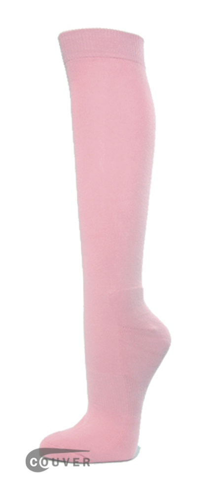 Light Pink COUVER Premium Quality WHOLESALE Athletic High Socks 1Dozen
