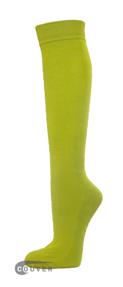 Lime Green Couver WHOLESALE Premium Quality Sports High Sock 1Dozen