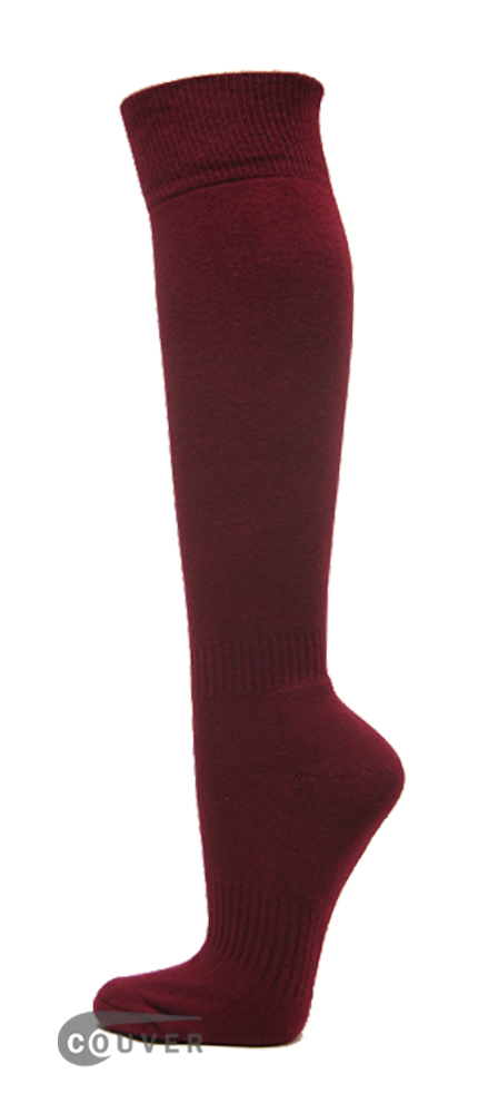 Maroon Couver WHOLESALE Premium Quality Sports High Sock 1Dozen