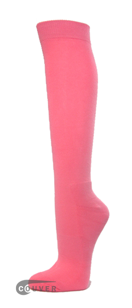 Pink Premium Quality COUVER Athletic Sport High Socks 1Dozen WHOLESALE