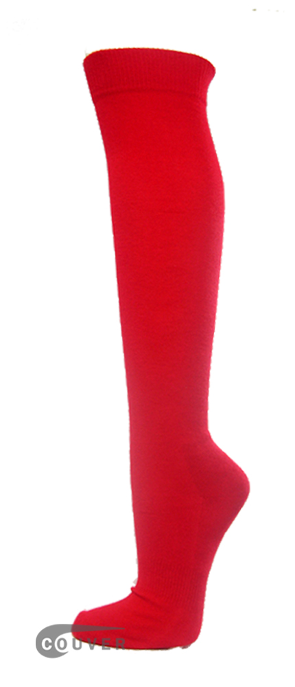 Red Couver WHOLESALE Premium Quality Sports High Sock 1Dozen