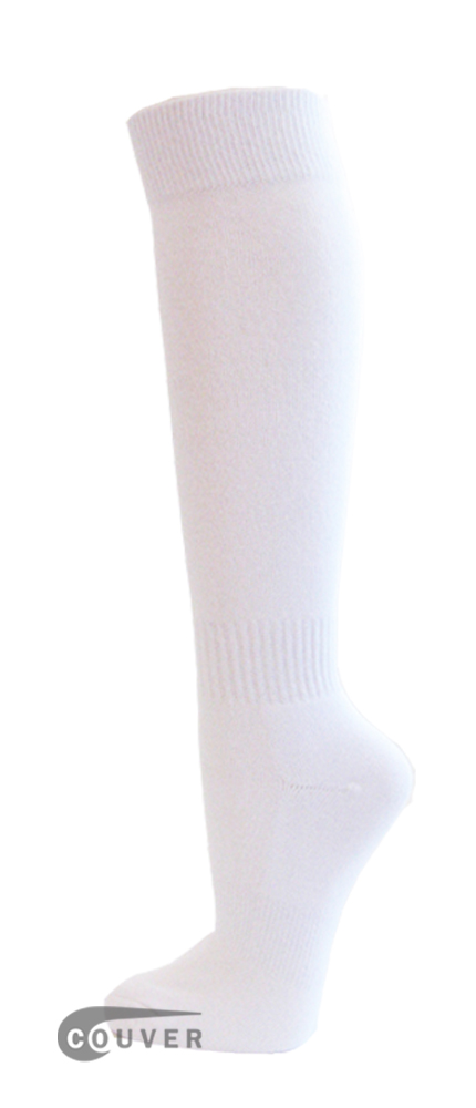 White Couver WHOLESALE Premium Quality Sports High Sock 1Dozen