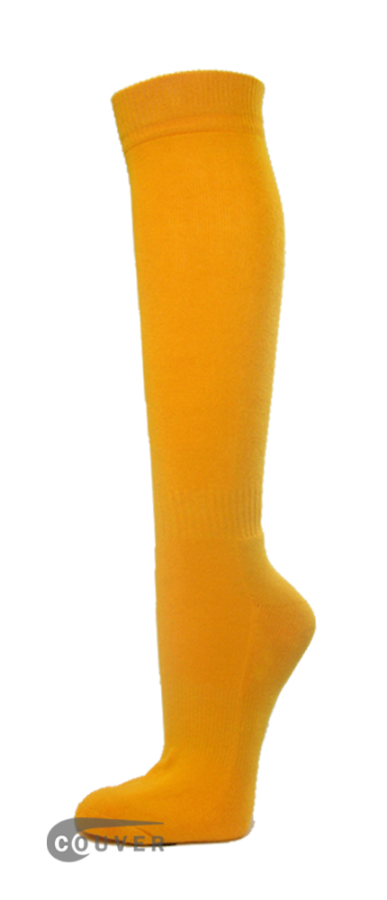 Golden Yellow Couver WHOLESALE Premium Quality Sports High Sock 1Dozen