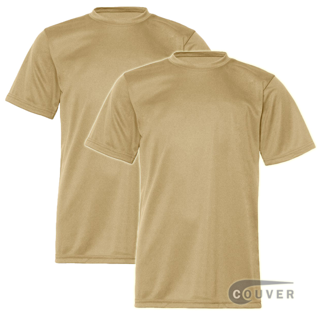 C2 Sport Youth Performance Tees Vegas Gold - 2 Pieces Set