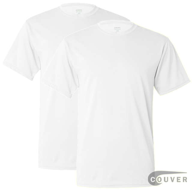 100% Poly Moisture Wicking T-Shirt - 2 Pieces Set(White)