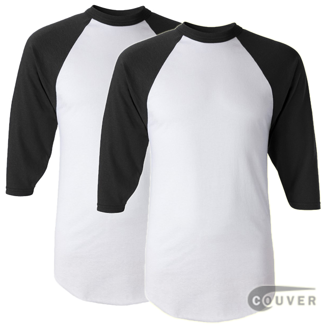 Augusta Sportswear Adult's Baseball Jersey White / Black - 2 Pieces Set