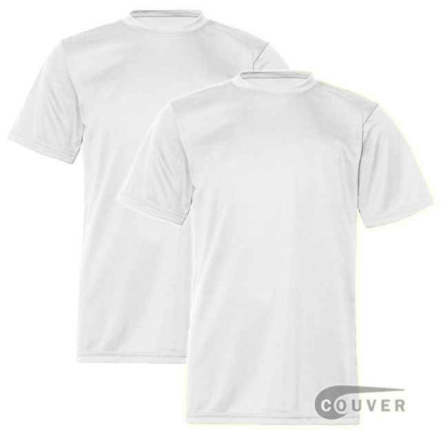C2 Sport Youth Performance Tees White - 2 Pieces Set