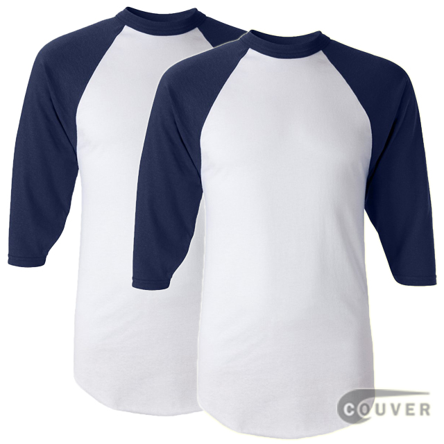 Augusta Sportswear Adult's Baseball Jersey White / Navy - 2 Pieces Set