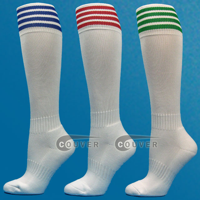 White Youth Sport/ Football Sock