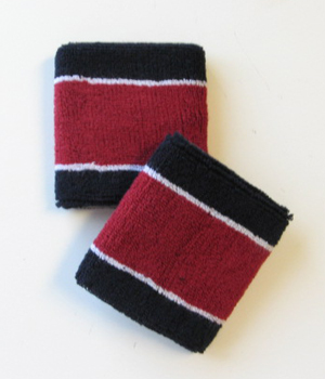 Wholesale Navy_Burgundy 2 colored Sports Wristbands [6pairs]