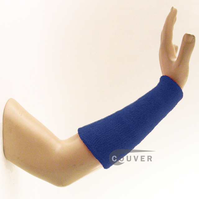 9IN COUVER Blue Athletic Sweat Wristbands Wholesale 3PRs