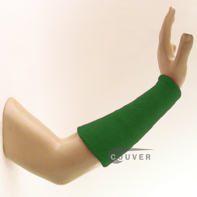 9IN COUVER Green Athletic Sweat Wristbands Wholesale 3PRs