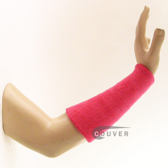 9INCH COUVER Bright Pink Athletic Wrist Sweatbands Wholesale 3PRs