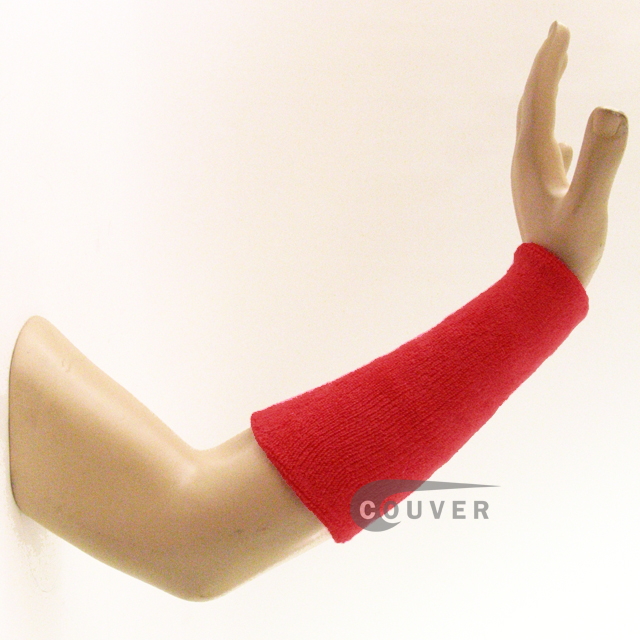9IN COUVER Red Athletic Sweatband Wristbands Wholesale 3PRs