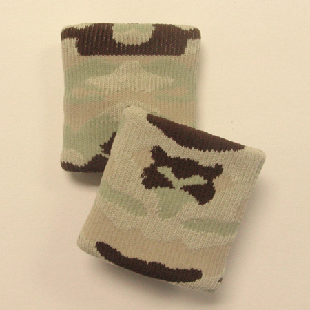 Beige brown camouflage wristbands urban style [3pairs]