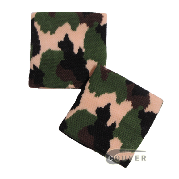 Camouflage(Beige,Green,Black) Nylon wristbands urban style [6 pairs]