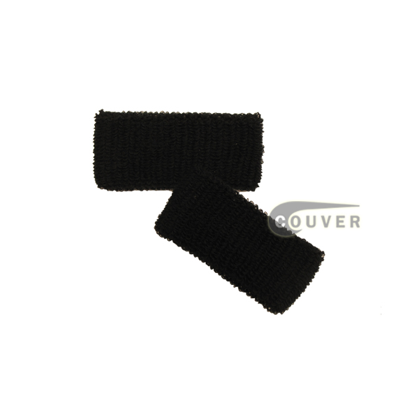 Black 1inch Cheap Wristbands Wholesale Adult Size 6PAIRS