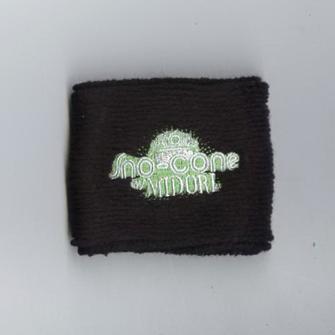 Customized black youth sweat wristband sample
