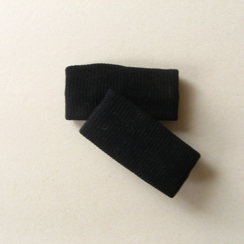 Black 1inch short girls kids nylon wristband