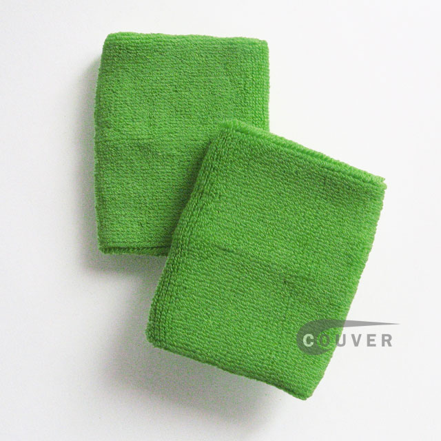 Bright Lime Green Wrist Sweatband (Wristbands) Wholesale 6PAIRS