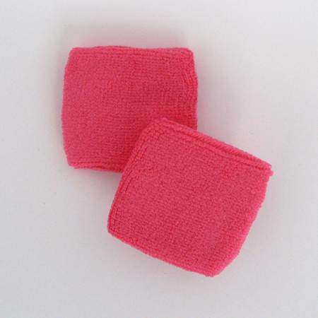 Bright Pink Wrist Sweatbands Wholesale 2.5inch