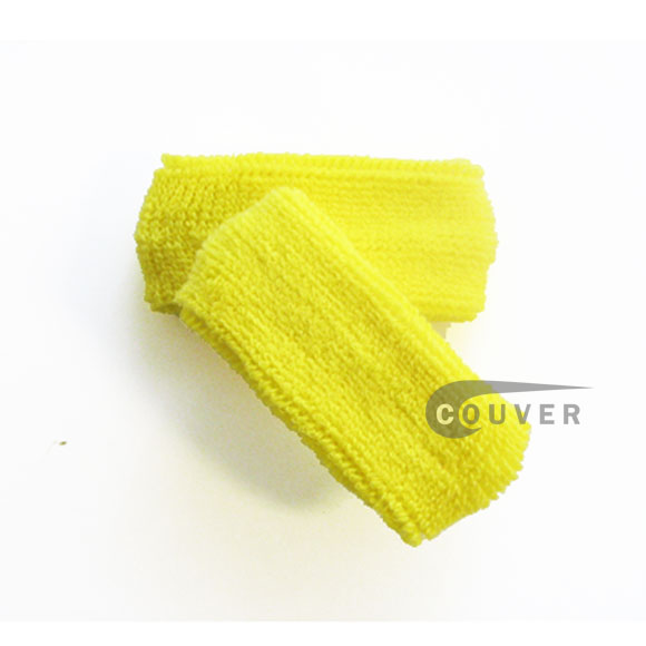 Bright Yellow 1 inch thin cotton terry wrist sweatbands [3pairs]