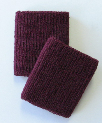 Cheap Maroon Elastic Wristbands for events Wholesale [6pairs]